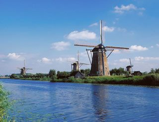 Home Windmills at Kinderdijk  Holland - Water District Insurance