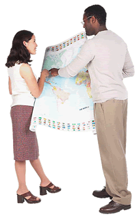 Travel man and woman with map BE 3 1 - Resources